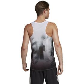 adidas Sub 2 - Camiseta sin mangas running Hombre - blanco/negro